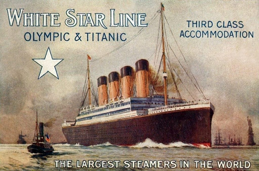 promotional flier for the Titanic