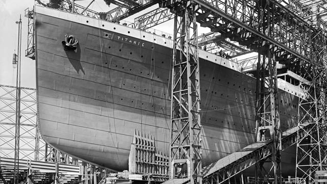 the Titanic under construction