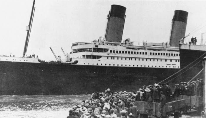 RMS Titanic in the port