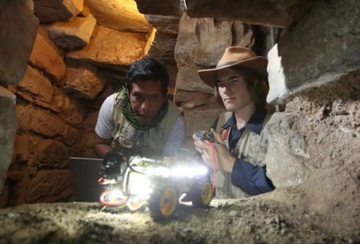 Archaeologist and robot buddies make major discovery at Chavin de Huantar